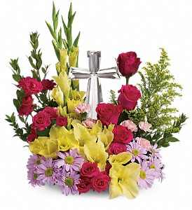 Teleflora's Crystal Cross Bouquet in Kelowna BC, Creations By Mom & Me