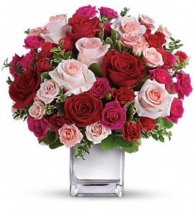 Teleflora's Love Medley Bouquet with Red Roses in San Francisco CA, A Mystic Garden