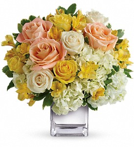 Teleflora's Sweetest Sunrise Bouquet in San Francisco CA, A Mystic Garden