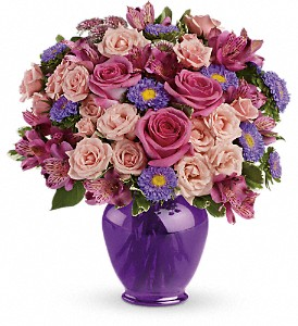 Teleflora's Purple Medley Bouquet with Roses in Nutley NJ, A Personal Touch Florist