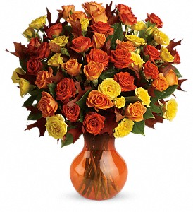 Teleflora's Fabulous Fall Roses in East Point GA, Flower Cottage on Main