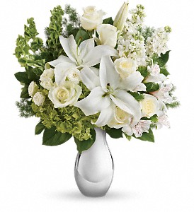Teleflora's Shimmering White Bouquet in Canton MS, SuPerl Florist