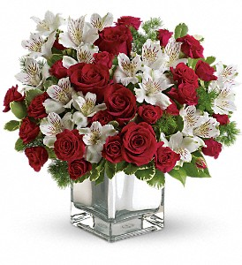 Teleflora's Christmas Blush Bouquet in Bartlett IL, Town & Country Gardens