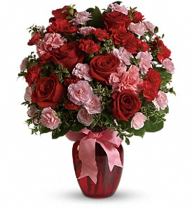 Dance with Me Bouquet with Red Roses in Gothenburg NE, Ribbons & Roses