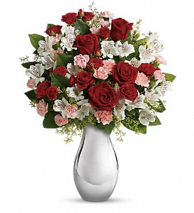 Teleflora's Crazy for You Bouquet with Red Roses in Canton NC, Polly's Florist & Gifts