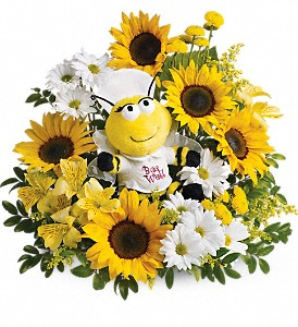 Teleflora's Bee Well Bouquet in Newport VT, Spates The Florist & Garden Center