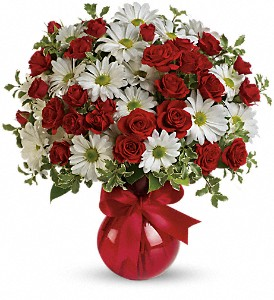 Red White And You Bouquet by Teleflora in Westminster CA, Dave's Flowers