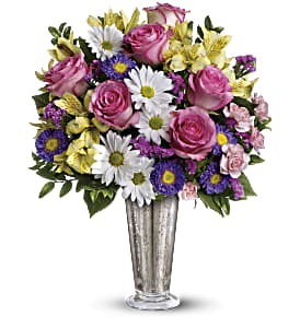 Smile And Shine Bouquet by Teleflora in Oak Forest IL, Vacha's Forest Flowers