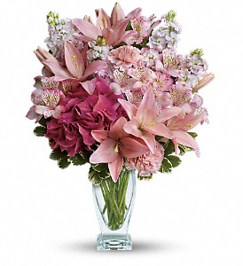 Teleflora's Blush Of Love Bouquet in Canton NC, Polly's Florist & Gifts