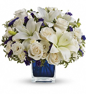 Teleflora's Sapphire Skies Bouquet in Houston TX, Cornelius Florist