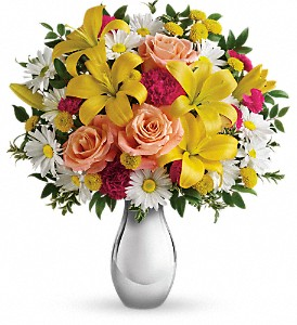 Just Tickled Bouquet by Teleflora in Macomb IL, The Enchanted Florist