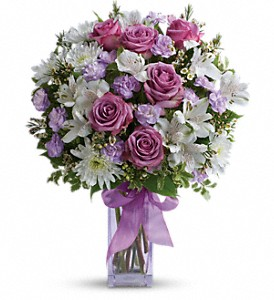 Teleflora's Lavender Laughter Bouquet in Thornhill ON, Wisteria Floral Design