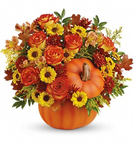Teleflora's Warm Fall Wishes Bouquet in Chandler OK, Petal Pushers