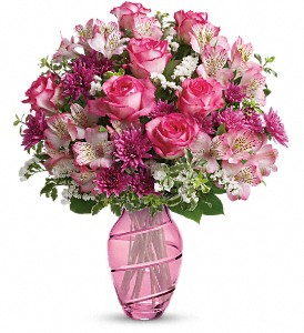 Teleflora's Pink Bliss Bouquet in Northumberland PA, Graceful Blossoms
