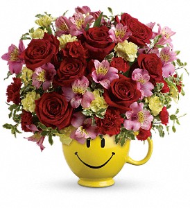 So Happy You're Mine Bouquet by Teleflora in Bartlett IL, Town & Country Gardens