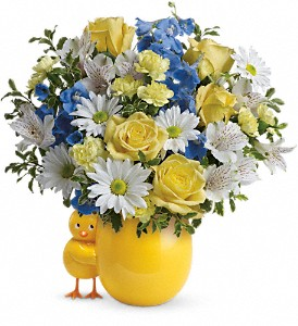 Teleflora's Sweet Peep Bouquet - Baby Blue in Springfield OH, Netts Floral Company and Greenhouse
