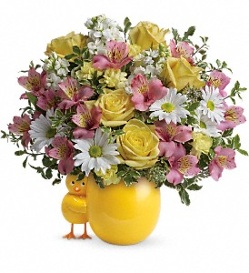 Teleflora's Sweet Peep Bouquet - Baby Pink in Bay City MI, Keit's Greenhouses & Floral