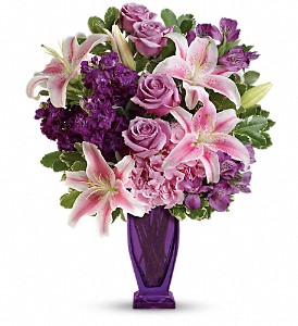 Teleflora's Blushing Violet Bouquet in Festus MO, Judy's Flower Basket