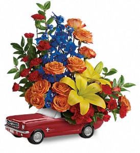Living The Dream '65 Ford Mustang by Teleflora in Kearney MO, Bea's Flowers & Gifts