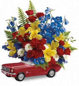 Teleflora's '65 Ford Mustang Bouquet in Utica NY, Chester's Flower Shop And Greenhouses