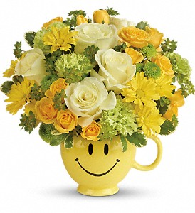 Teleflora's You Make Me Smile Bouquet in Charleston WV, Food Among The Flowers