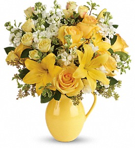Teleflora's Sunny Outlook Bouquet in Lewistown MT, Alpine Floral Inc Greenhouse