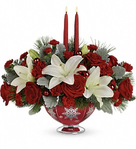 Teleflora's Merry Memories Centerpiece in Liverpool NY, Creative Florist