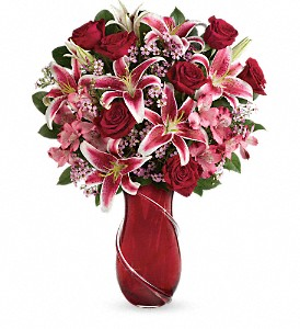 Teleflora's Wrapped With Passion Bouquet in Encinitas CA, Encinitas Flower Shop