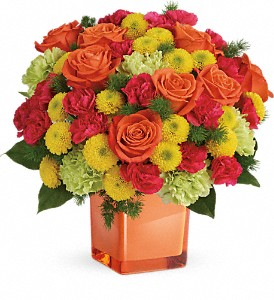 Teleflora's Citrus Smiles Bouquet in Kent WA, Blossom Boutique Florist & Candy Shop