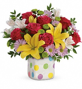 Teleflora's Delightful Dots Bouquet in Saraland AL, Belle Bouquet Florist & Gifts, LLC