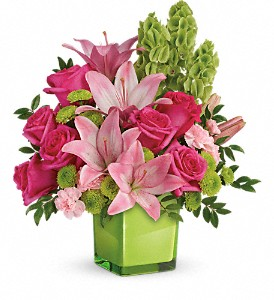 Teleflora's In Love With Lime Bouquet in Sayville NY, Sayville Flowers Inc