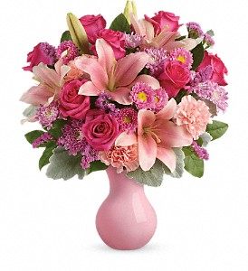 Teleflora's Lush Blush Bouquet in Miami FL, Anthurium Gardens Florist