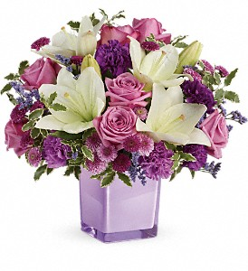 Teleflora's Pleasing Purple Bouquet in Cortland NY, Shaw and Boehler Florist