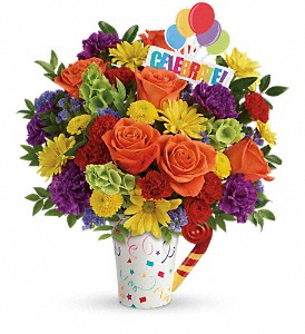 Teleflora's Celebrate You Bouquet in DeKalb IL, Glidden Campus Florist & Greenhouse