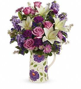 Teleflora's Garden Pitcher Bouquet in Tuckahoe NJ, Enchanting Florist & Gift Shop