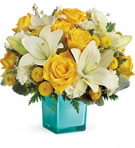 Teleflora's Golden Laughter Bouquet in Attalla AL, Ferguson Florist, Inc.