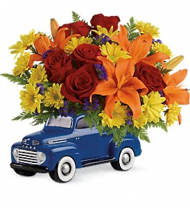 Vintage Ford Pickup Bouquet by Teleflora in Utica NY, Chester's Flower Shop And Greenhouses