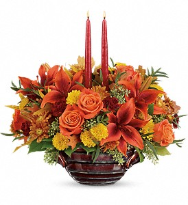 Teleflora's Rich And Wondrous Centerpiece in Oklahoma City OK, Array of Flowers & Gifts