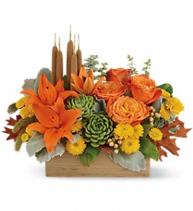 Teleflora's Fall Bamboo Garden in McHenry IL, Locker's Flowers, Greenhouse & Gifts