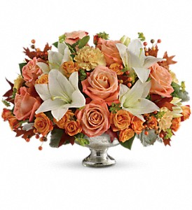 Teleflora's Harvest Shimmer Centerpiece in Orange VA, Lacy's Florist
