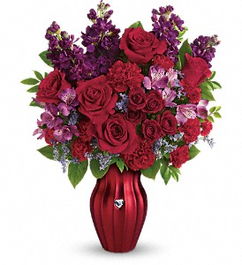 Teleflora's Shining Heart Bouquet in Milwaukee WI, Flowers by Jan