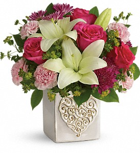 Teleflora's Love To Love You Bouquet in Newbury Park CA, Angela's Florist