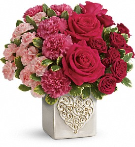 Teleflora's Swirling Heart Bouquet in Bartlett IL, Town & Country Gardens
