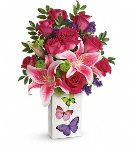 Teleflora's Brilliant Butterflies Bouquet in Stephens City VA, The Flower Center