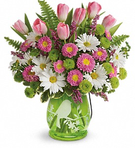 Teleflora's Songs Of Spring Bouquet in Canton NC, Polly's Florist & Gifts