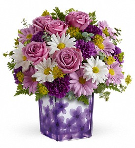 Teleflora's Dancing Violets Bouquet in Saugerties NY, The Flower Garden