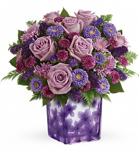 Teleflora's Happy Violets Bouquet in Spokane WA, Riverpark Flowers & Gifts