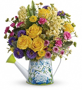 Teleflora's Sunlit Afternoon Bouquet in Hendersonville NC, Forget-Me-Not Florist