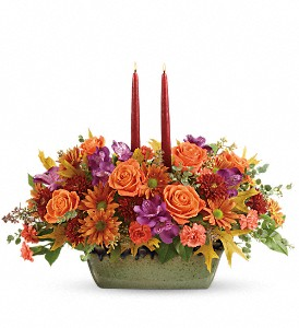 Teleflora's Country Sunrise Centerpiece in Oakland MD, Green Acres Flower Basket