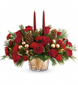 Teleflora's Festive Glow Centerpiece in Kelowna BC, Creations By Mom & Me